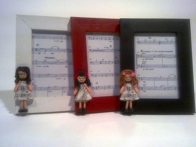 Moldura Boneca - Vestido Musica
