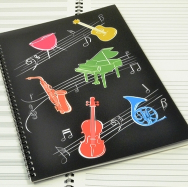 Caderno de Música A4 Linhas e Pautas