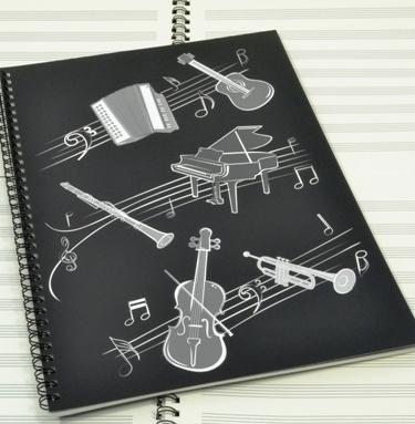 Caderno de Música A4 Pautado